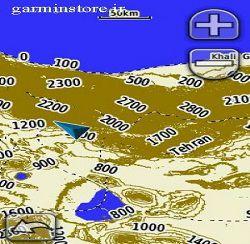 نقشه توپوگرافی ایران