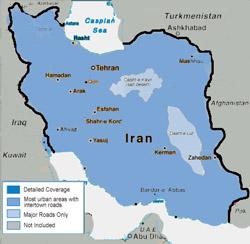 نقشه ایران برای گارمین